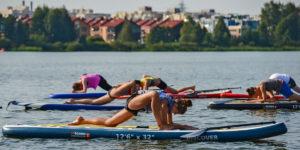 SUP йога в Озерках СПБ