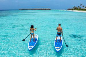SUP на Мальдивах
