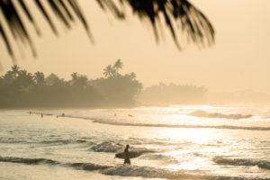 Утренний серфинг на Шри Ланке