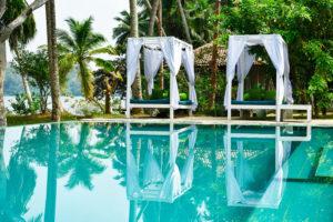 Идеальное умиротворяющее место для практики йоги