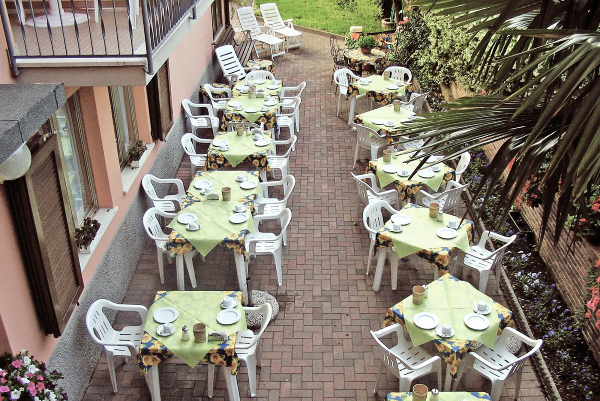 Outdoor terrace is the best to enjoy great sunny weather