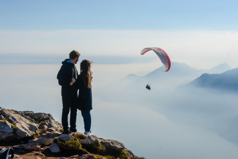Самая высокая точка на озере Гарда, в облаках
