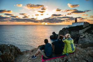 Закат в самой юго-западной точке Европы мыс Sao Vicente
