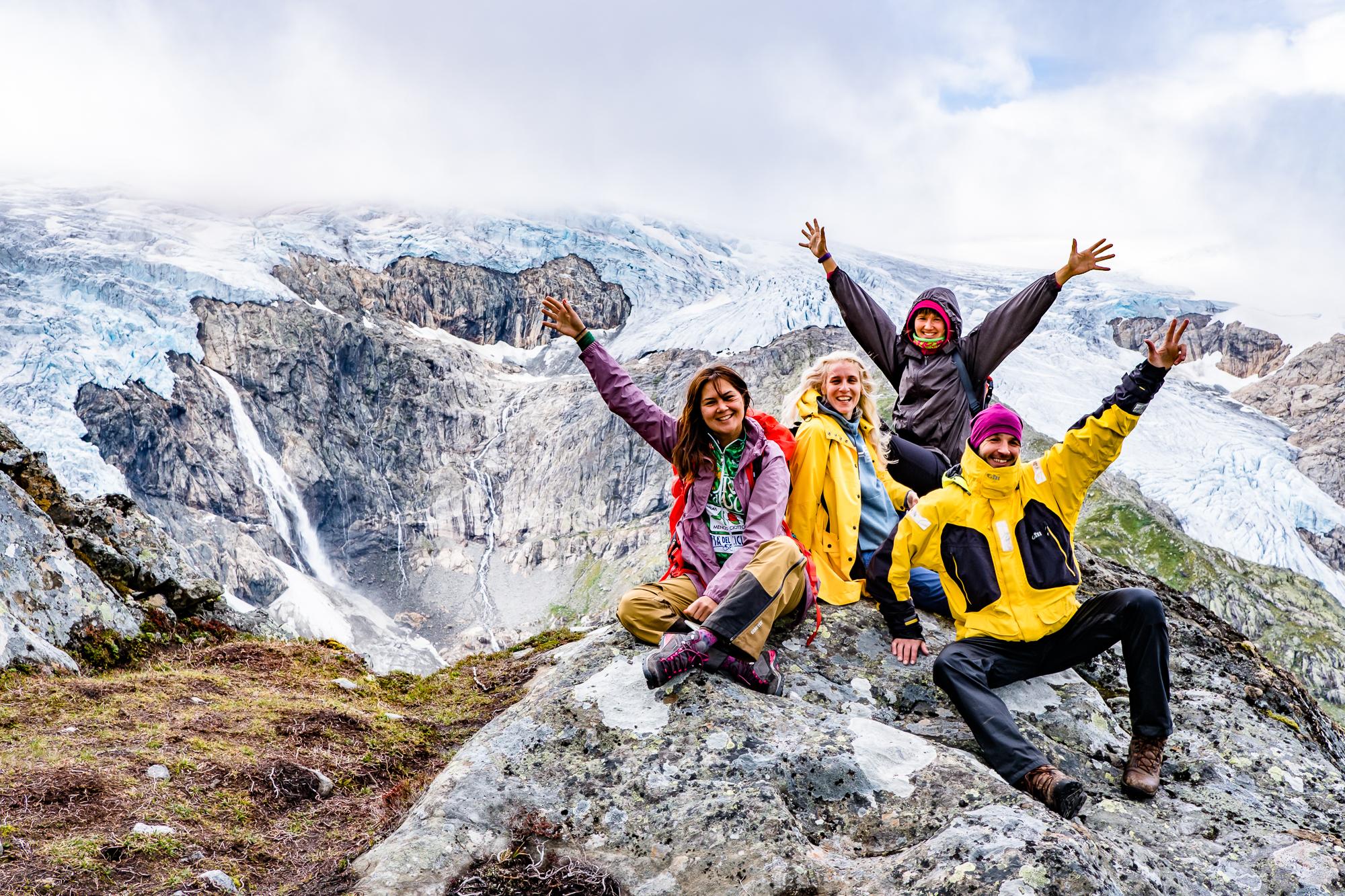 Вместо фото с Языка Тролля - мы и тающий ледник, Норвегия