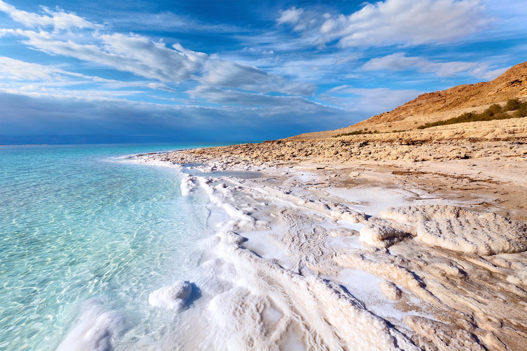 Соленые берега Мертвого моря Израиль