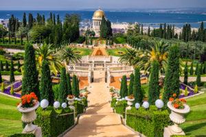 Великолепные террасы Бахайских садов в Хайфе
